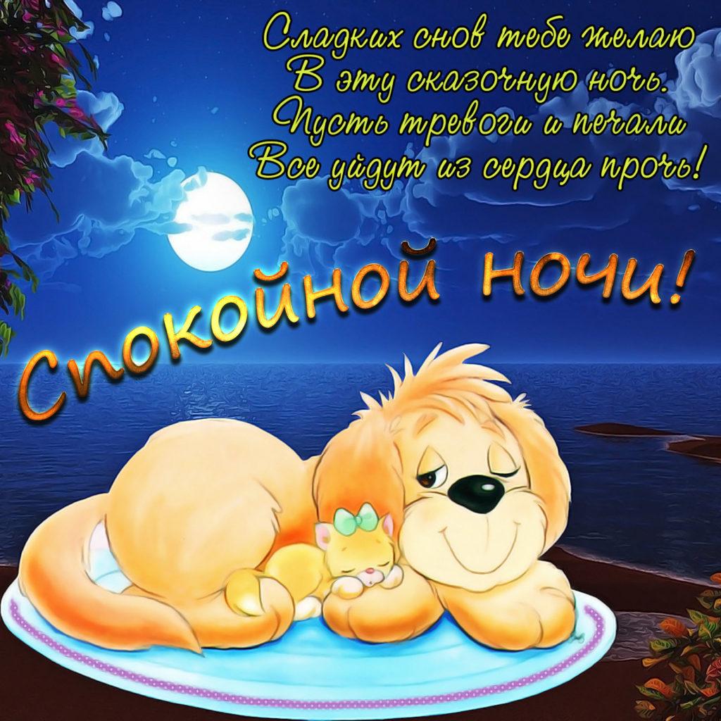 Пожелание приятных снов с картинками