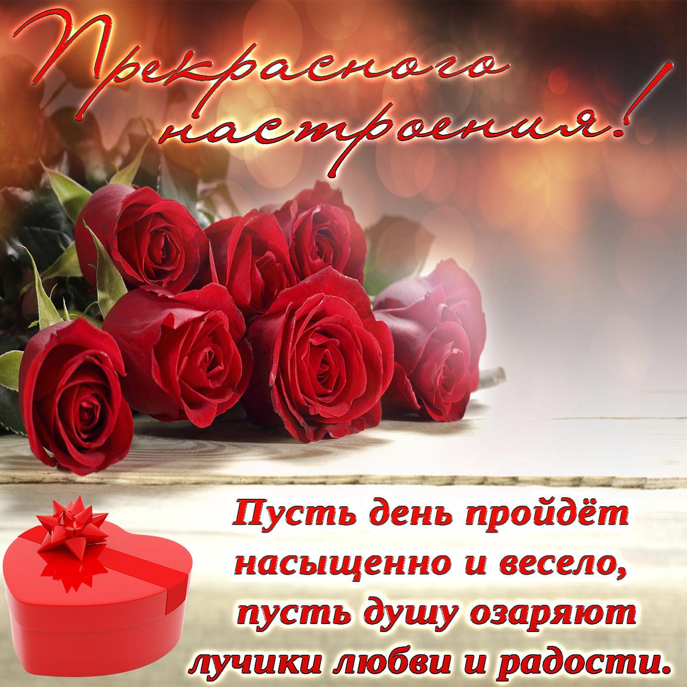 Милая картинка с розами для прекрасного настроения