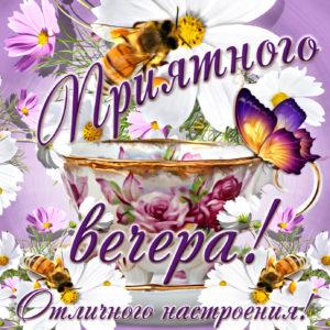 Бабочки и пожелание приятного вечера