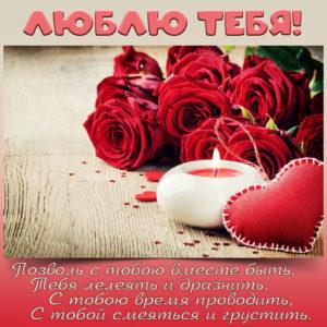 Яркая картинка с красными розами