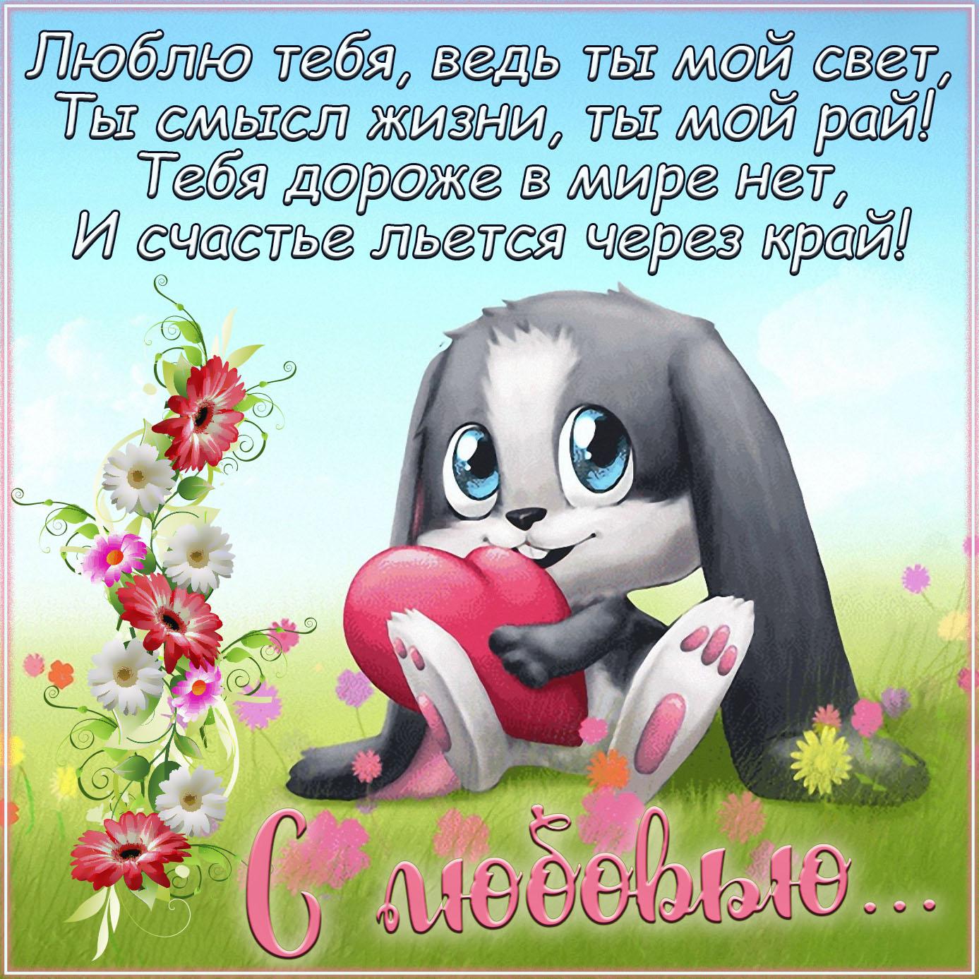 Картинка с кроликом для любимого человека