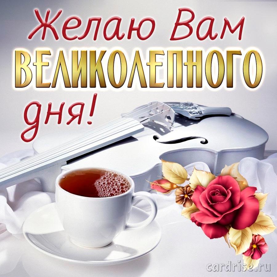 Скрипка и кофе для великолепного дня